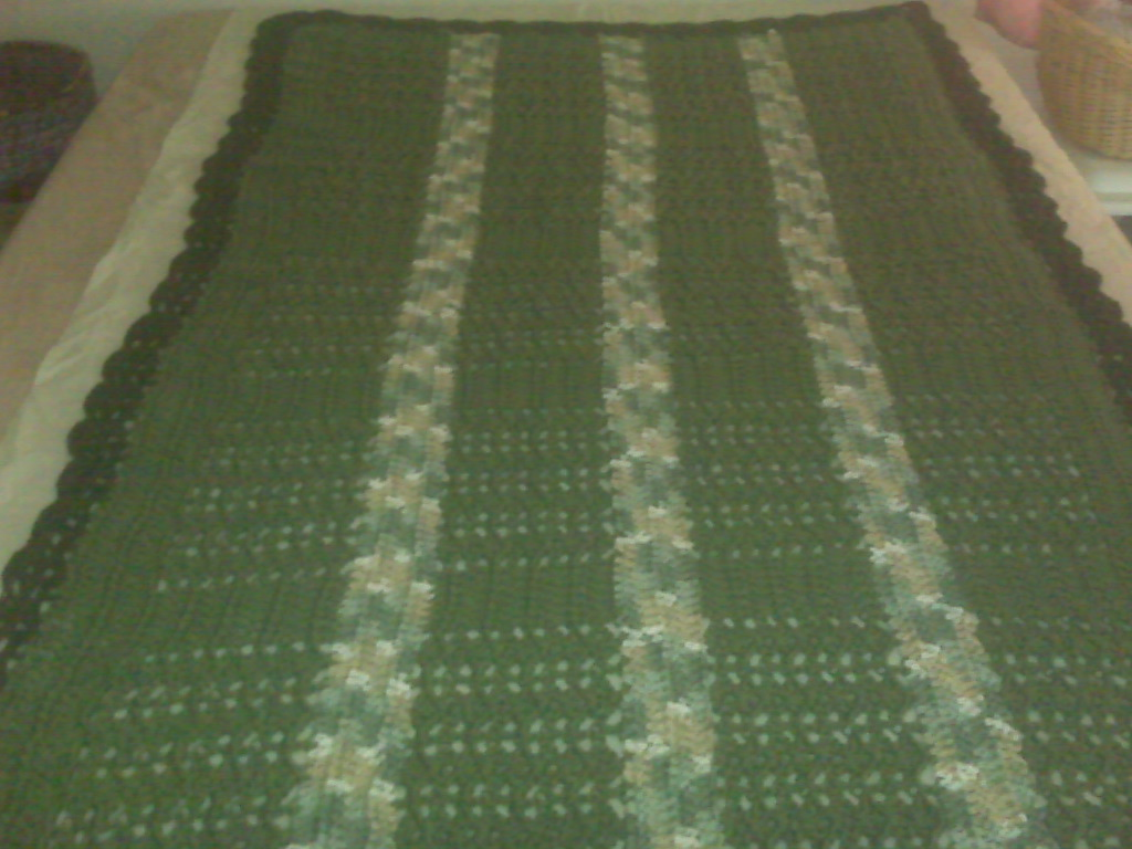 Queen-Sized Military Hand-Crochet Blanket