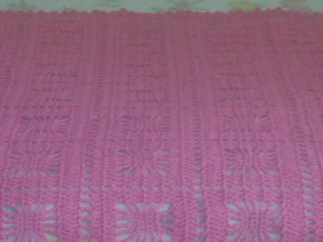 bubble gum/rose color itsy bitsy spider crochet baby blanket