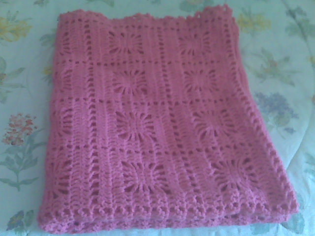 bubble gum/rose color itsy bitsy spider baby blanket