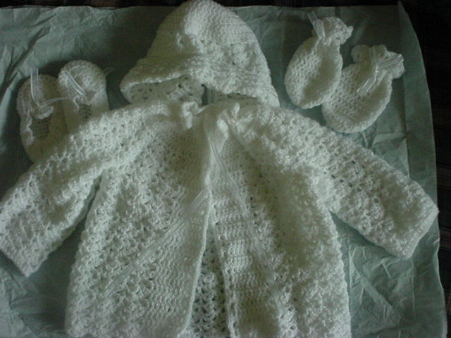 Hand Crochet And Knit Baby Blankets Layette Booties Sweaters And More