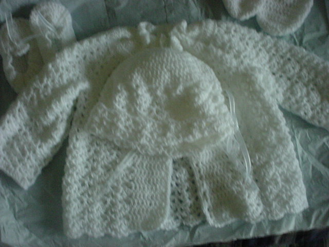 Baby Crochet Layette With Matching Blanket Makeit4me