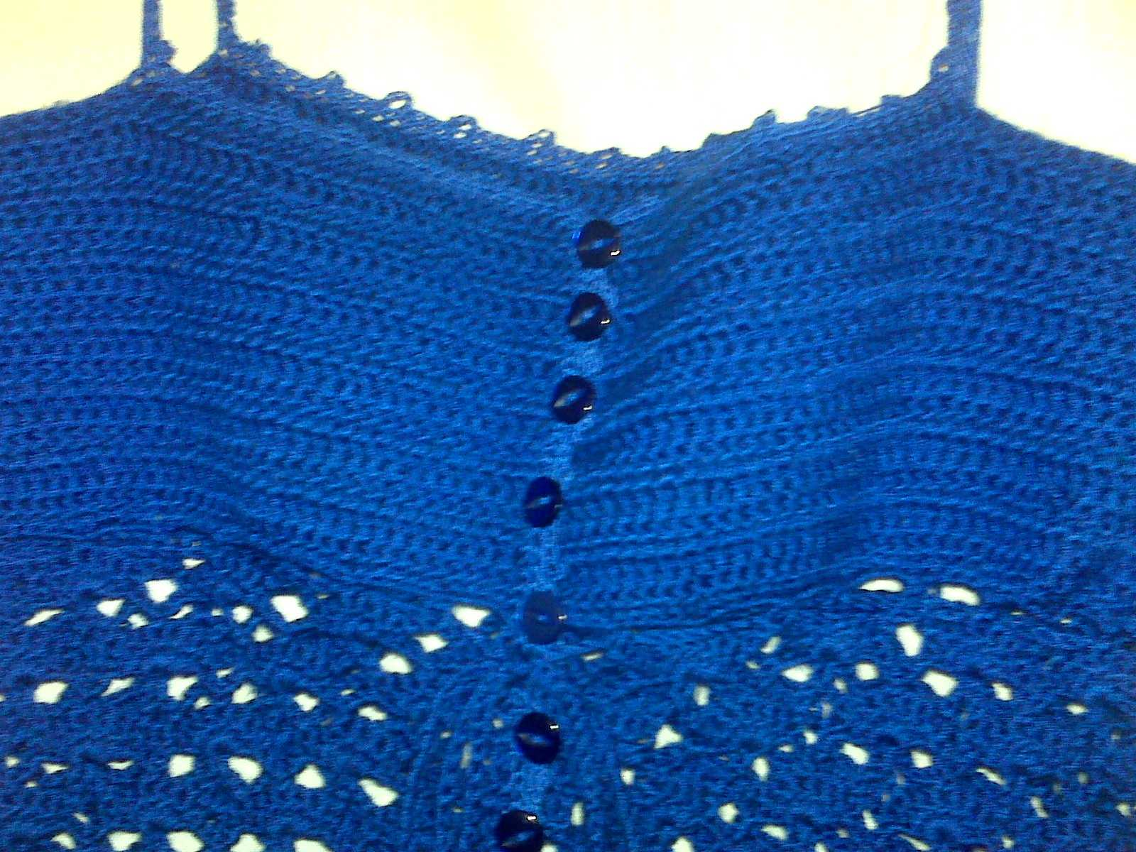 Blue Lacy Camisole