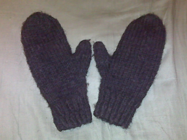 hand made knit and crochet mittens