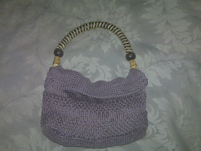 Seed Stitch Hand Knit Purse